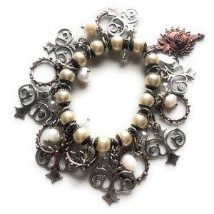Treska Boho Chic Beaded Multi Charm Bracelet